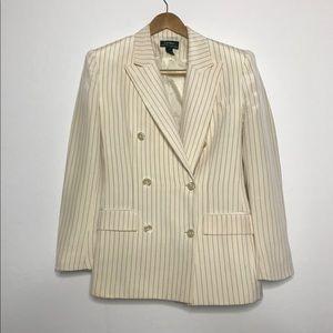 Vintage Lauren Ralph Lauren Silk Button Blazer 4